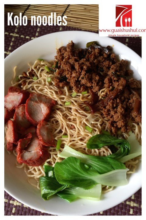 A Noodle Dish That Chinese Sarawakian Would Not Be Able To Let Go… Sarawak Kolo Mee