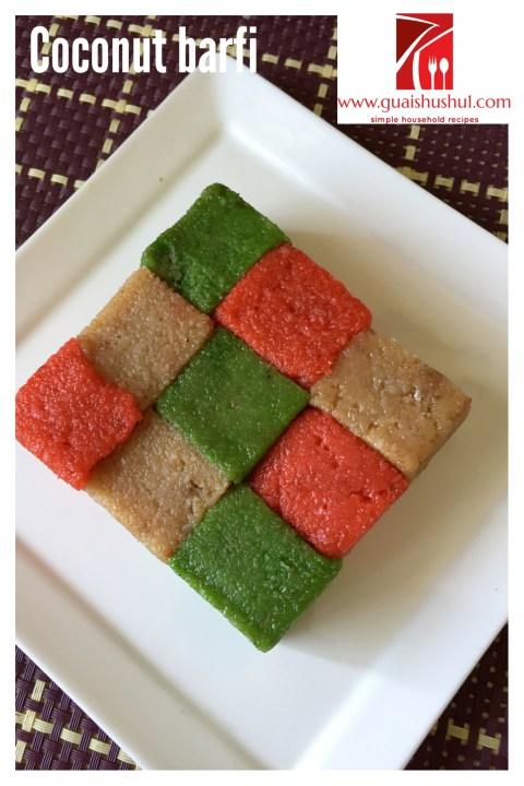 Happy Diwali 2013–Indian Coconut Candy–Coconut Barfi