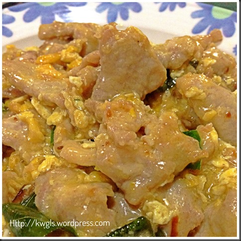 "Curried ""Buttered"" Meat Slices With Salted Eggs.."