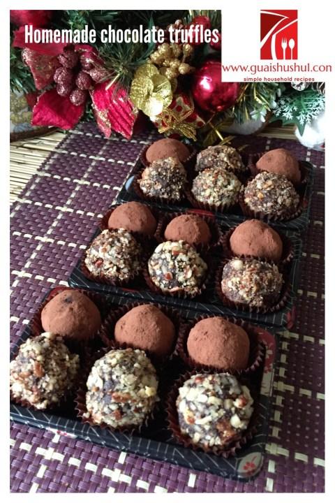 Chocolate Truffles As A Christmas Gift…. Chocolate Truffles (松露巧克力)