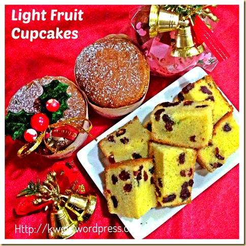 Simple Light Rummy Fruit Cupcakes…