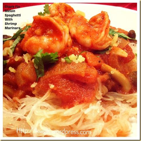 Lets Try Roasting Some Shark Fin Melon–Shark Fin Melon Spaghetti With Shrimp Marinara
