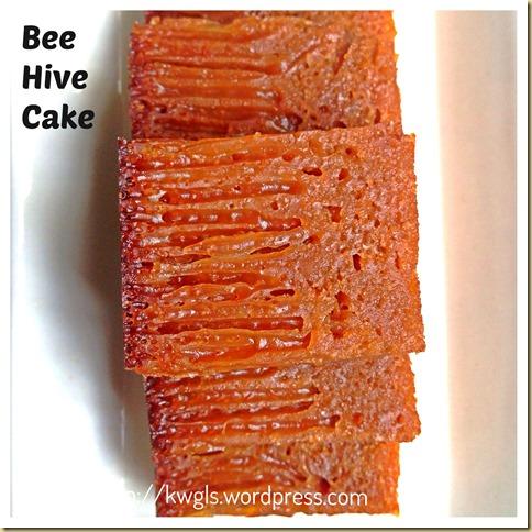 My Childhood Cake–Bee Hive Cake/Malaysian Honey Comb Cake or Kueh Sarang Semut (蜂巢蛋糕)
