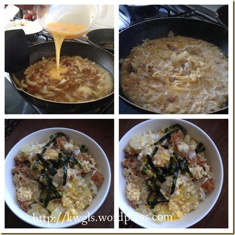 My Favourite Japanese Dish–Katsudon (カツ丼, 猪肉盖浇饭, 日式猪排饭)