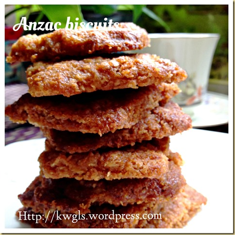 A Biscuit That Have Long History Significance–ANZAC biscuits (澳纽燕麦饼干)