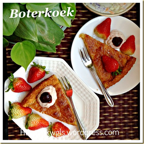 Let's Try Another Type Of Butter Cake–Dutch Butter Cake (Boterkoek) (荷兰牛油蛋糕)