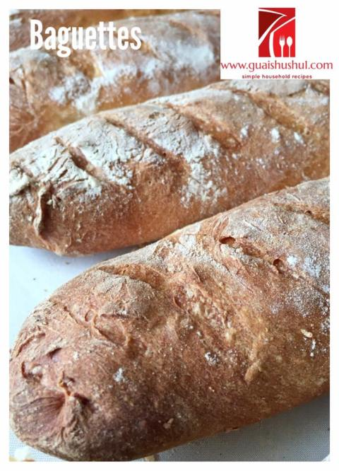 Another French Bread? Yes, It is Baguettes… (法式长棍面包, 法式尖头面包)