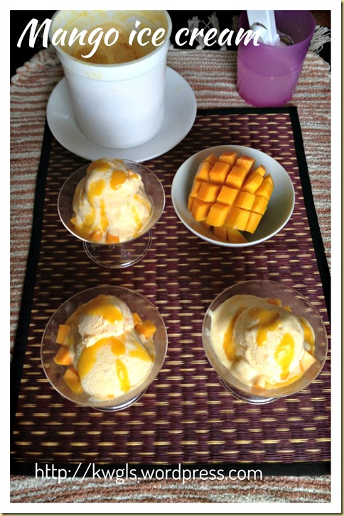 Mango Is In Season, So Let's Start Making…–Mango Ice Cream (芒果冰淇淋)