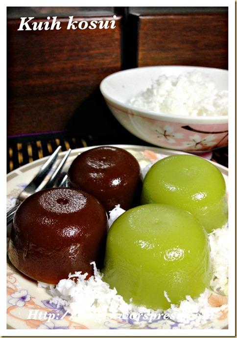 Pandan Green Or Gula Melaka Brown, You Decide–Kuih Kosui or Kuih Ko Swee (卡穗糕 or Kuih Kaswi)