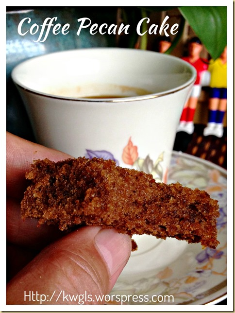 How About A New Flavour Butter Cake–Coffee Pecan Cake (咖啡胡桃蛋糕)