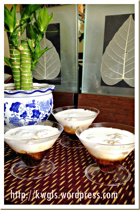 A 3 Ingredients Simple Dessert With Awesome Taste–Sago Gula Melaka Puddings (椰糖西米露)