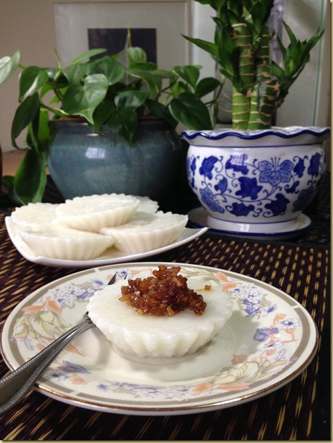 Another Singapore Malaysia Hawker Food–Chwee Kueh or Steamed Rice Cake With Preserved Radish