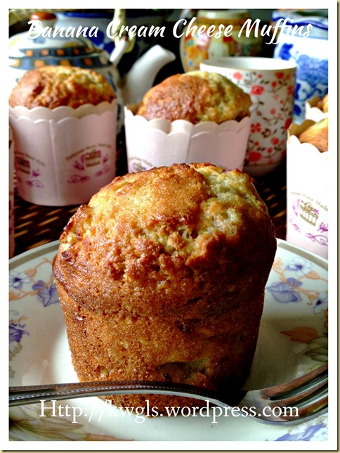Banana Cream Cheese Muffins (香蕉奶酪小松饼)