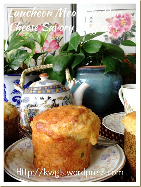 This Is A Savoury Muffin–Luncheon Meat Cheddar Cheese Muffin (午餐肉芝士小松饼)