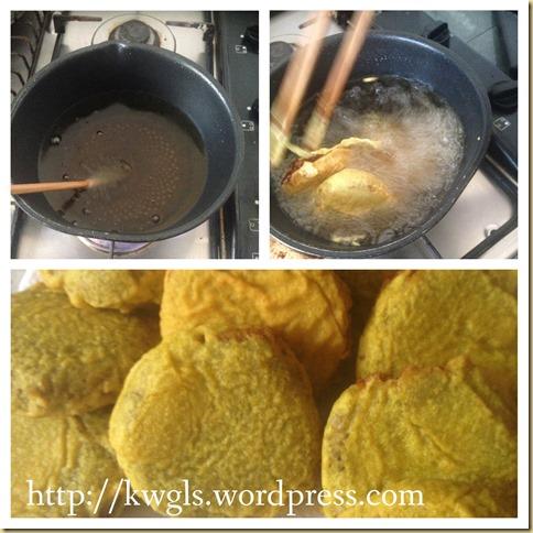 Don't Throw Away The Beans After Drinking The Soup–Mung Bean Fritters (Kuih Rengas, Kuih Kacang Hijau, Kuih Kasturi, 炸绿豆饼)