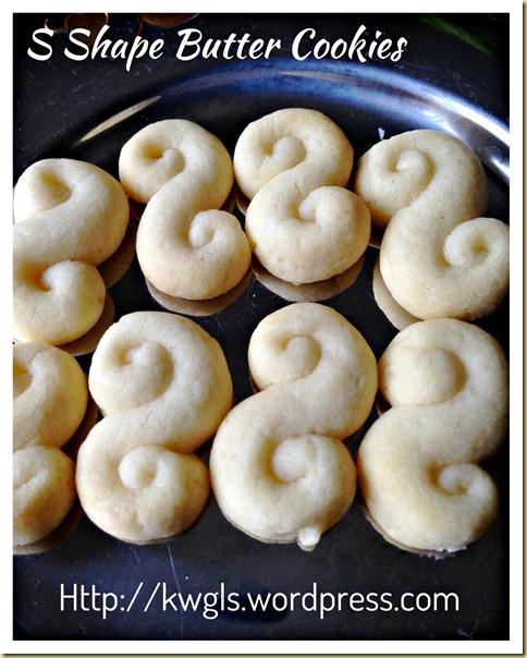 My Childhood Butter Cookies–S Shape Butter Cookies (Kuih S)