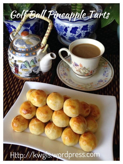 Golf Ball Pineapple Tarts aka Pineapple Jam balls or Nastar (凤梨酥球)- Part 2