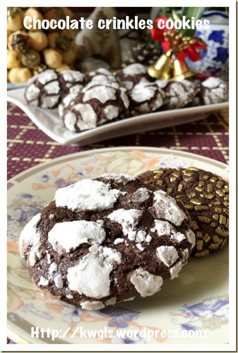 Chocolate Crinkles Cookies (巧克力皱纹曲奇)