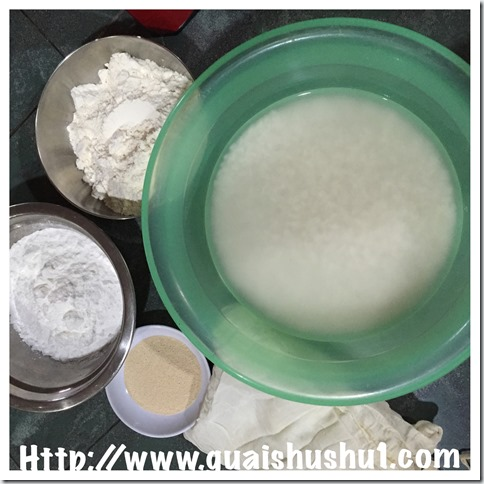 Yeasted Rice Flour Huat Kuih (粘米粉酵母发糕)