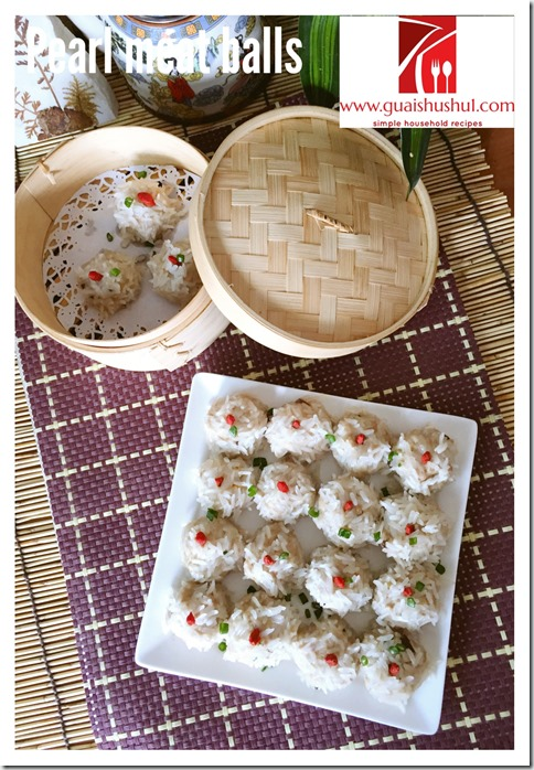 Glutinous Rice Coated Meatballs aka Pearl Meatballs (珍珠丸子)