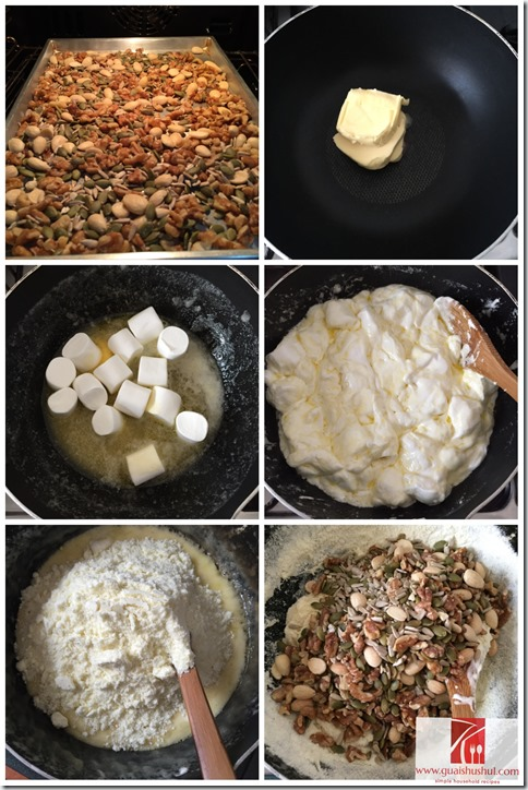 Homemade Mixed Nuts Nougats (杂仁牛扎糖)