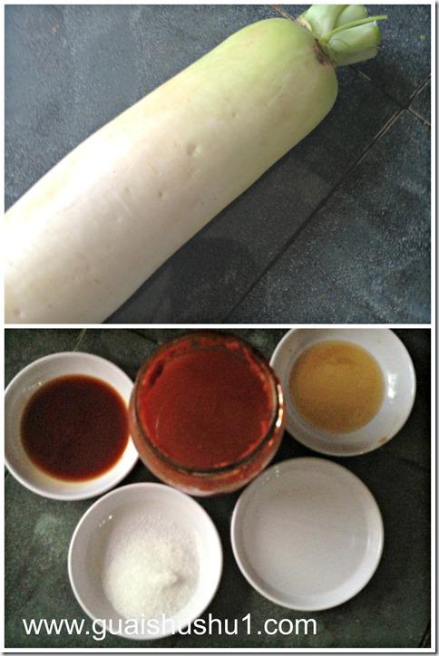 Chinese Pickled Radish Appetizer (爽口甜辣腌萝卜)