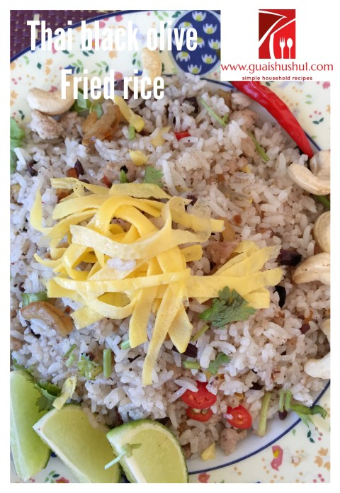 Thai Olive Fried Rice (Khao Phad Nahm Liap)–(泰式黑橄榄炒饭)