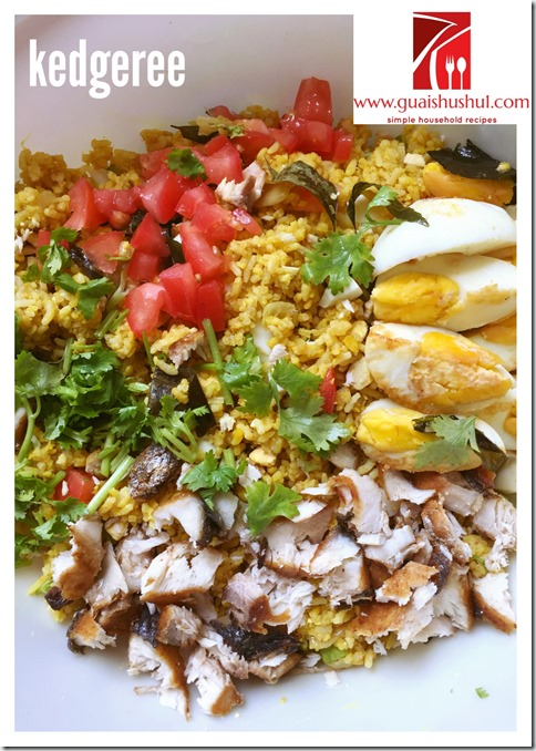 An Indian Style British Traditional Breakfast Item –Kedgeree or Kitchari