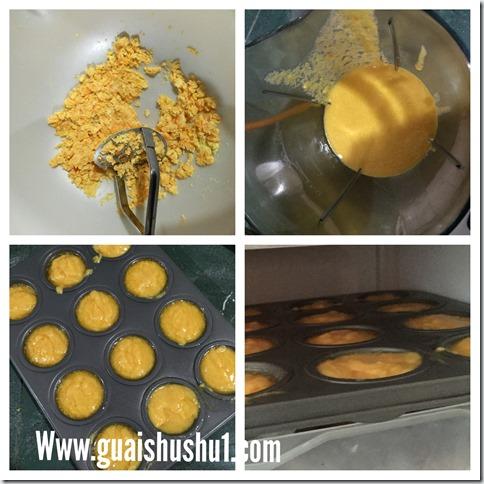 Salted Egg Yolk Custard Rolls aka Liu Sha Puff  (脆皮咸蛋卷)