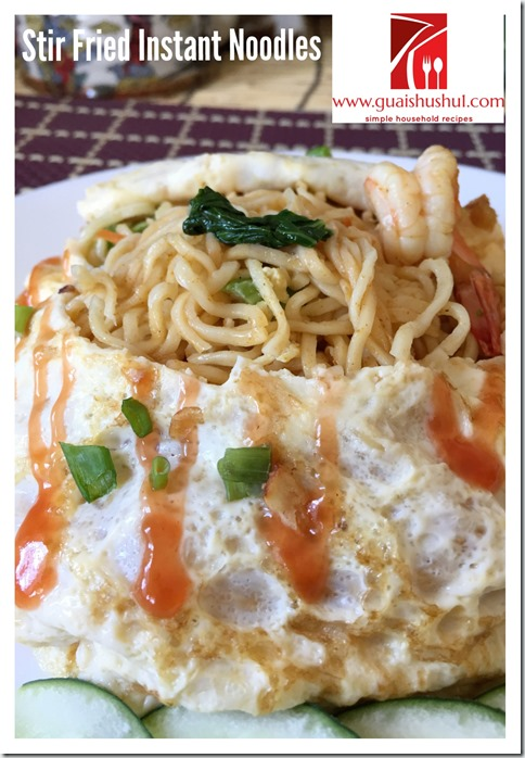 Stir Fried Instant Noodles aka Mee Goreng Maggie (杂炒快熟面)