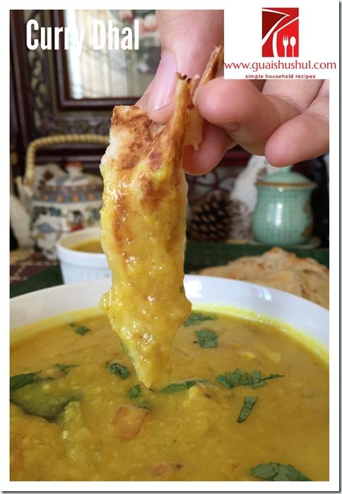 Classic Indian Vegetarian Curry–Lentil Curry aka Curry Dhal (印度扁豆咖喱 பருப்பு குழம்பு)