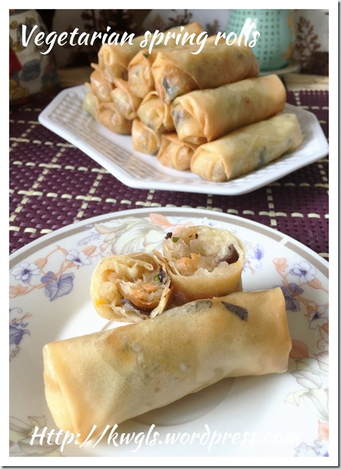 Chinese Deep Fried Spring Rolls (炸春卷)