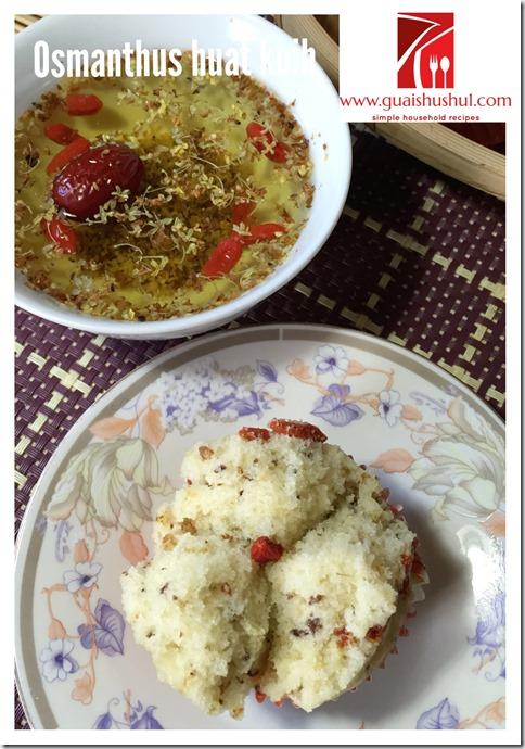 Osmanthus Goji Berries Huat Kuih (桂花枸杞发糕)