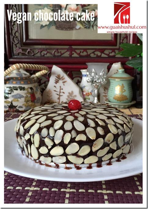 Eggless, Dairy Less Vegan Chocolate Cake (无蛋 无奶 全素 巧克力蛋糕)
