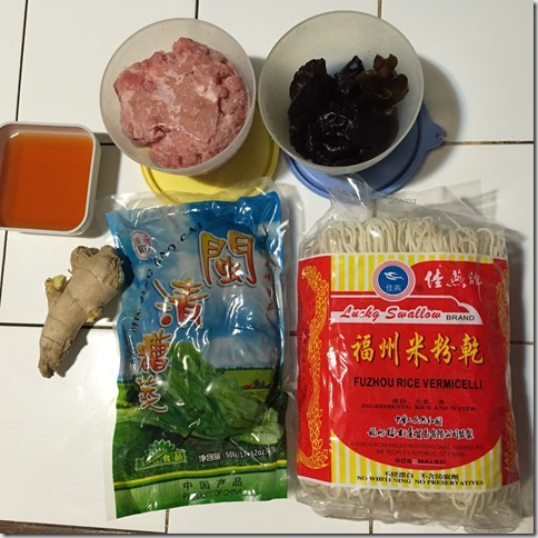 Sarawak Unique Fuzhou Noodles Recipe–Fermented Mustard Rice Noodles aka Zao Cai Hong Ngan (糟菜粉干)