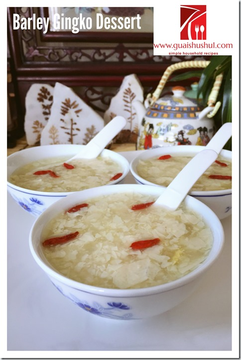 Chinese Gingko Barley Dessert Sweet Soup (白果薏米糖水)