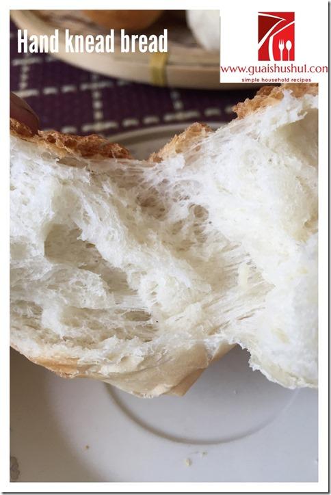 Basic Hand Knead Bread Recipe (手揉面包食谱)