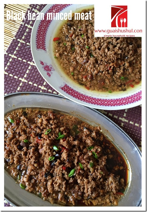 Fermented Black Soya Bean Minced Meat (豆豉炒肉末)