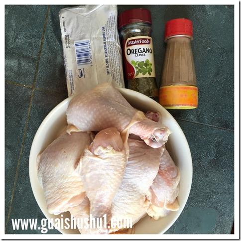 Baked Chicken In Garlic Cheddar Sauces (蒜香芝士酱烤鸡)