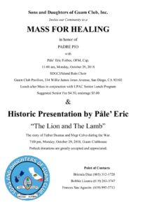 Healing Mass & Historic Presentation by Pale Eric on 12.29.18