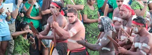 Australian delegates, FestPac 2012 Solomon Islands. Photo by Ron J. Castro.