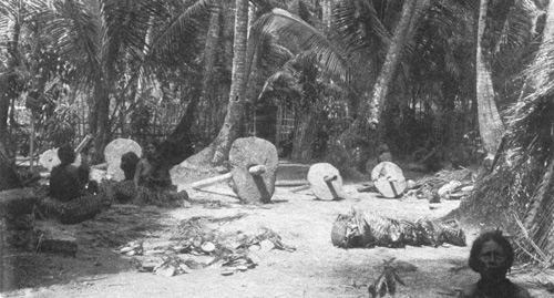 Stone Money of Yap, Western Caroline Islands, 1904. From Dr. W.H. Furness courtesy of the Wikimedia Commons.