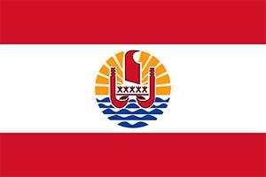 Flag of French Polynesia (Tahiti)