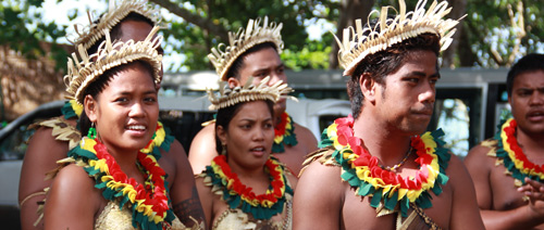 Kiribati delegates at the Festival of Pacific Arts hosted by the Solomon Islands, 2012. Photo by Ron J. Castro.