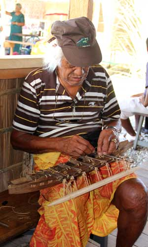 Tokelau canoe carver. FestPac 2012 Solomon Islands. Photo by Ron J. Castro