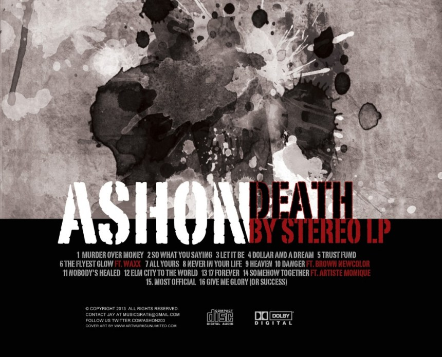 Ashon Death By Stereo Cover Back