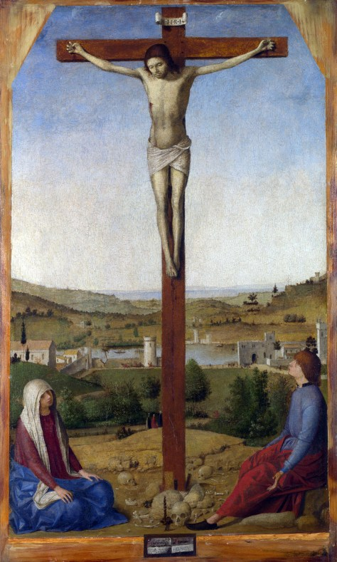 Full title: Christ Crucified Artist: Antonello da Messina Date made: 1475 Source: http://www.nationalgalleryimages.co.uk/ Contact: picture.library@nationalgallery.co.uk Copyright © The National Gallery, London