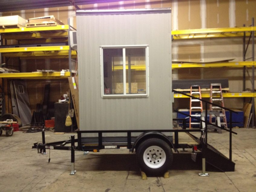 4 x 6 Trailer Mounted Guard Booth