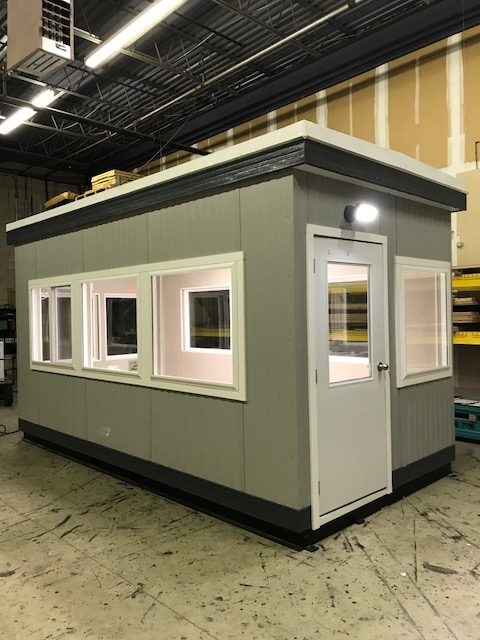 8 x 16 Guard Booth-Plan A- Door on 8 side