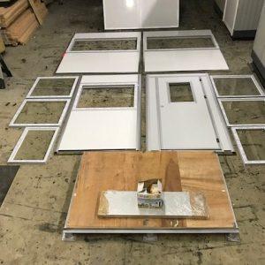 4' x 6' -Flat Pack-Unassembled-Guard Shack-White